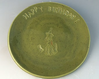 Airedale Birthday Dinner Plate