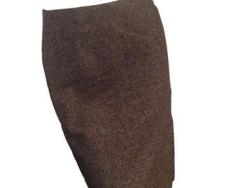 Ann Taylor Petites Brown Tweed Pencil Skirt - Size 2P