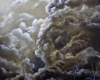 "8.5x11 inch Fine Art Print of Original Painting ""Inching Desolation"""