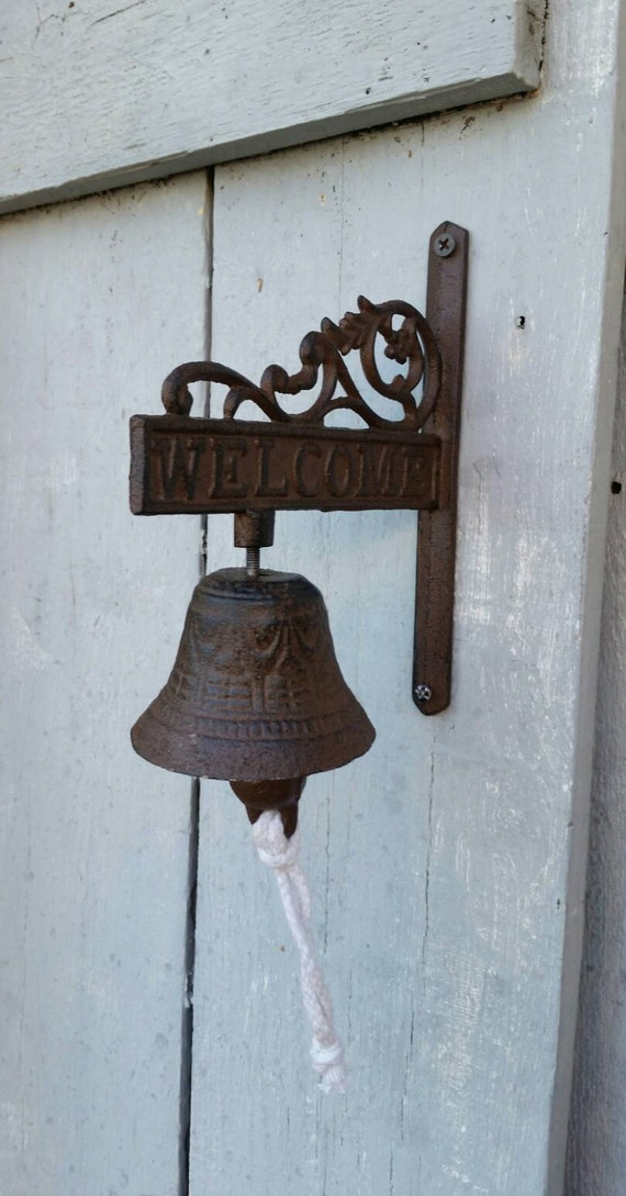 Dinner Bell Iron Bell Welcome Sign Cast Iron By Themetalbarn