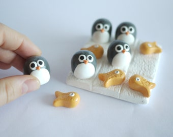 Penguin and Fish Noughts and Crosses (Tic Tac Toe)
