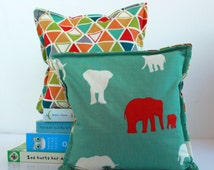 Serengeti Nursery & Kid's Bookends, Child Safe Fabric Bookends, Reversible-Colorful Nursery and Kid's Decor, Bean Bag Bookends