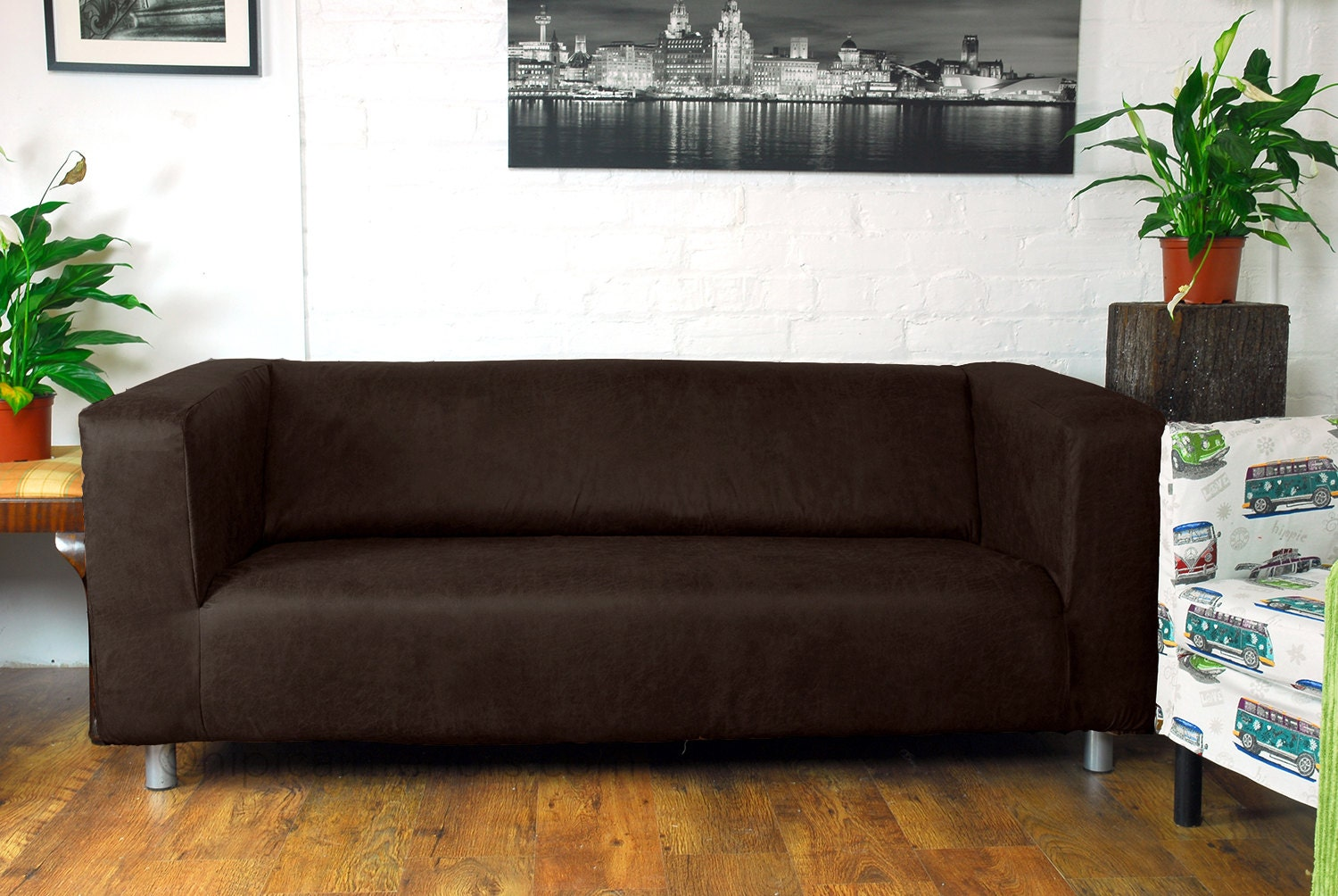 Ikea Klippan 2 Seat Love Seat Slip Cover In Dark Brown