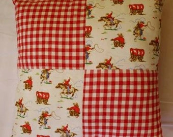 Cowboy fabric cushion, boys cushion