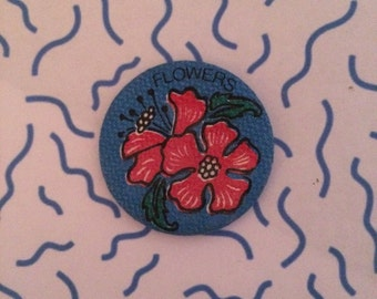"""Vintage """"Flowers"""" Fabric Pin"""