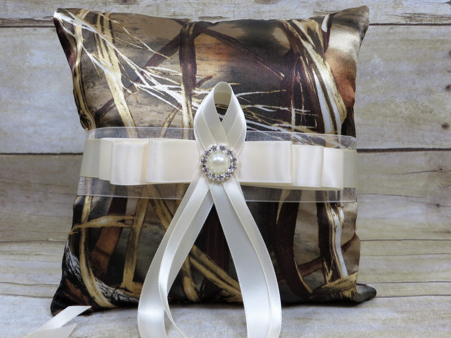 Realtree Max 4 Wedding Flower Girl Basket Camo Ring Bearer Pillow