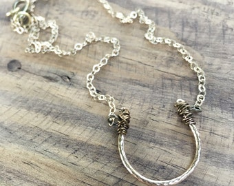 Lucky Bronze Horseshoe Necklace