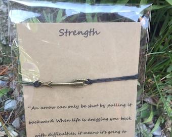 Strength Arrow Wish Bracelet