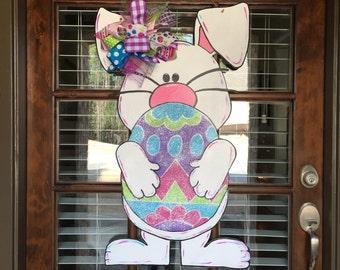 Easter Bunny Door Hanger *ORIGINAL* Easter Door Hanger, Easter Wreath, Easter Decor, Bunny Decorations, Easter Door Decor , Easter Wreath