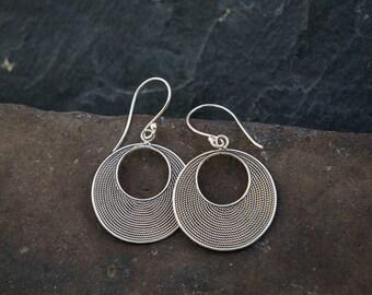 Sterling Silver Wirework Drop Earrings