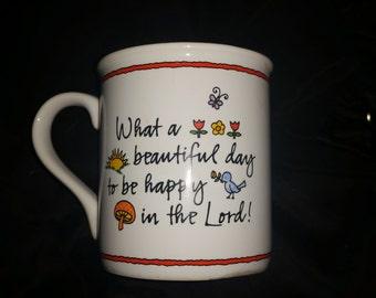 Vintage 1985 Mug Mates from Hallmark Spiritual Saying Unusual Mug Never Used