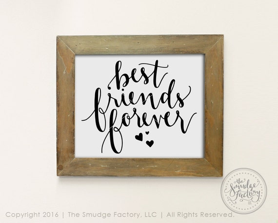Best Friends Forever Svg Cut File Hand Lettered