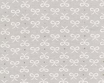 Mini Bow Fabric - Bitty Bows in Cloud by Michael Miller Fabrics - 1/2 Yard