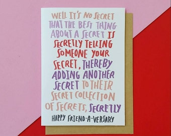 Funny Friendaversary greeting card / Best Friend Cards / friendship cards / Spongebob quote / 90s