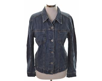 Mustang Womens Denim Jacket XL Blue Cotton