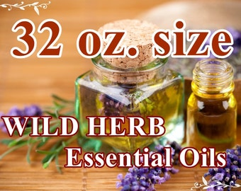 BULK ESSENTIAL OILS 32 oz. size, Aromatherapy / Therapeutic Use: Fresh and Pure, Full Strength, Organically Cultivated
