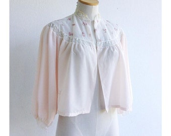 the vintage bed jacket . vintage styled by godfried bed jacket