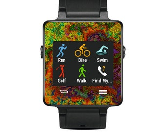 Skin Decal Wrap for Garmin Vivoactive Forerunner, Vivoactive Forerunner Hr Watch cover sticker Rust