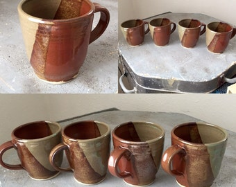 Iron Red Mugs - Hand Made Stoneware Pottery