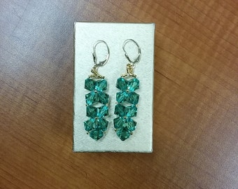 Light Green Erinite Earrings