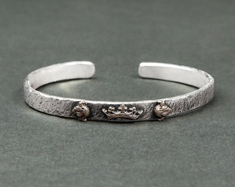 Bracelet / ring hammered silver kings / mixed