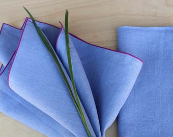 "Lavender Napkins, Purple Napkins, Wedding Napkins, Linen Napkins, Custom Napkins, Cloth Napkins, Table Linens ,set of 4, 20"" sq"
