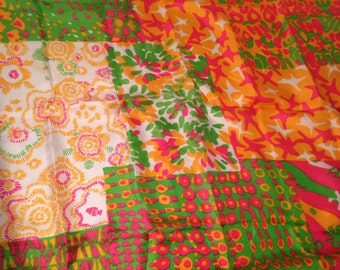 Vintage De Mura 100% Silk Multi-colored Scarf