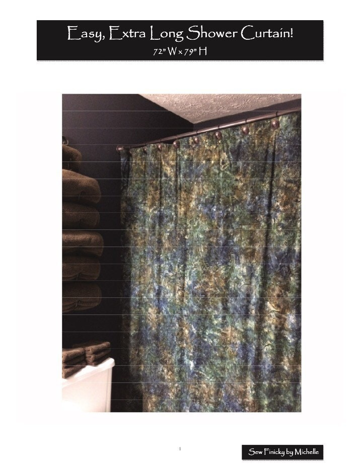 Pattern Easy Extra Long Shower Curtain Single Panel