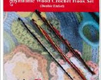 KnitPro double crochet hooks set 20730 2-sided, double-sided - Symfonie wood