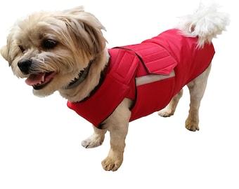 Dog Raincoat - Dog Jacket for small dogs - Custom Dog Clothes - Waterproof Dog Coat - Dog Rain Coat - MADE TO ORDER