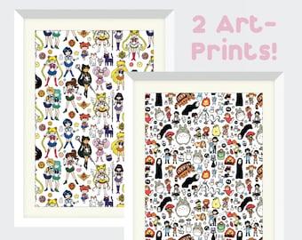 2 Kawaii Art Prints for 30 - Pick your favorites!