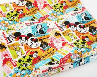 90x140cm Disney Mickey Mouse Minnie Mouse Fabric Kawaii Cartoon Character Thick Canvas Fabric