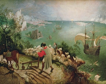 Pieter Bruegel the Elder: Landscape with the Fall of Icarus. Fine Art Print/Poster. (003574)