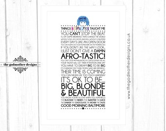 HAIRSPRAY! Broadway Musical Quotes Lyrics Typographic Print - **Digital File Only**
