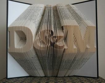 folded book art anniversary gift 1st wedding anniversary gift for him gift