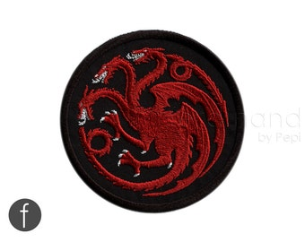 Game of Thrones - House of Targaryen Embroidered Iron-on Patch 3.25""