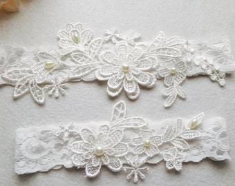 Wedding Garter , bridal garter, off white Lace Garter A11#