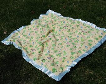 Frog Stroller Blanket
