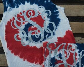 Patriotic Tie Dye Tank