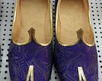 Handmade Men's Mojari Flats Shoes Jutiya