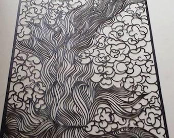Fire and Smoke papercut