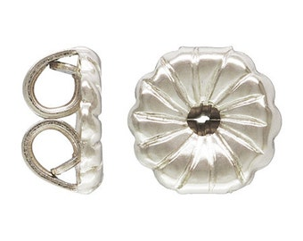 Sterling Silver Earring Nuts 50 pc Pack - 27-1600-SS