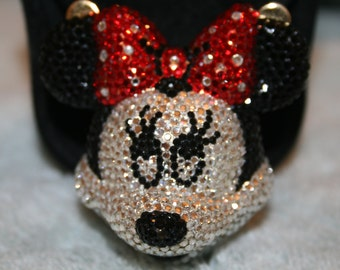Vintage Kathrine Baumann Swarovski crystal Minnie Mouse pill box/Beverly Hills! This is a very rare piece. Only a few made.