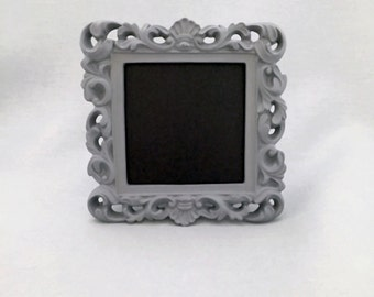 Grey Pastel Framed Chalkboard Ornate Table Number Frame Chalkboard Sign Gray Baroque Frame Baby Shower DIY Centerpiece Birthday Party Decor