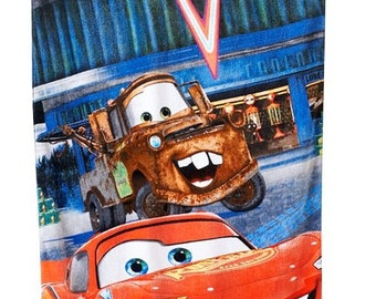 CARS McQueen Mater Hometown Beach Towel Personalized Beach Towel