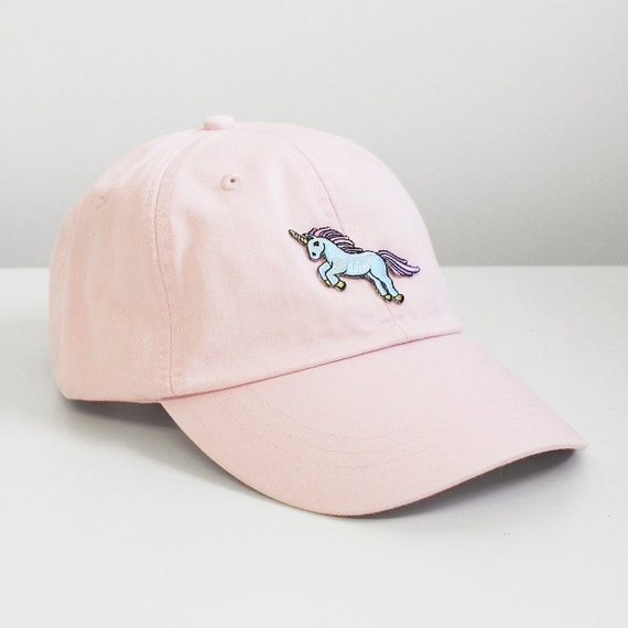 Unicorn embroidered baseball hat your choice of cap color