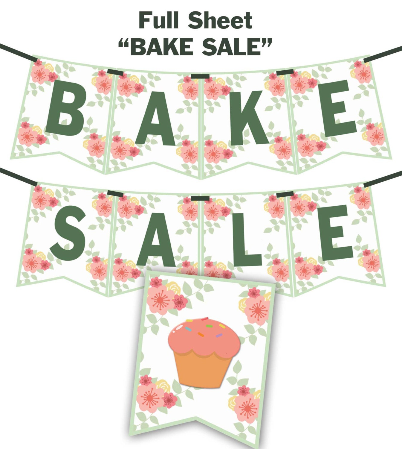 It's just a picture of Invaluable Free Printable Bake Sale Signs