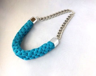 Gift For Eid, Gift For Woman, Gift For Her, Statement Necklace, Big Necklace, Bib Necklace, Chunky bib Necklace, Blue Necklace, Necklace