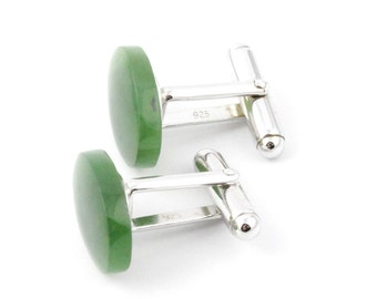 Canadian Nephrite Jade Cuff links, K0005