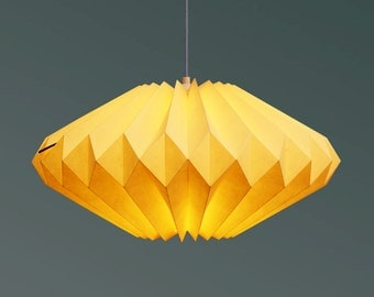 Origami paper lampshade: Lydia Vanilla